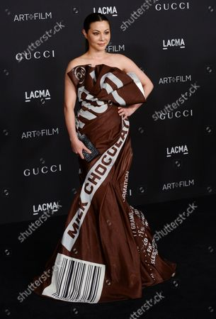 Actress China Chow attends the fourth annual LACMA Art + Film gala honoring Barbara Kruger and Tarantino in Los Angeles on November 1, 2014.