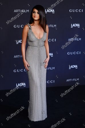 Actress Selena Gomez attends the fourth annual LACMA Art + Film gala honoring Barbara Kruger and Tarantino in Los Angeles on November 1, 2014.