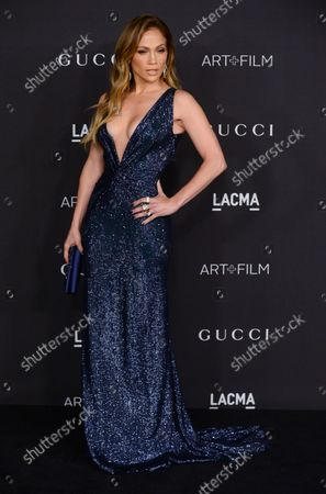 Singer and actress Jennifer Lopez attends the fourth annual LACMA Art + Film gala honoring Barbara Kruger and Quentin Tarantino in Los Angeles on November 1, 2014.