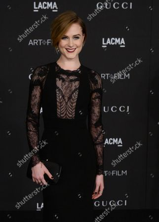 Actress Evan Rachel Wood attends the fourth annual LACMA Art + Film gala honoring Barbara Kruger and Tarantino in Los Angeles on November 1, 2014.