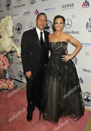Angelo Pagan and Leah Remini