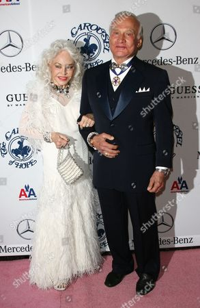 Buzz Aldrin and wife Lois Driggs Cannon