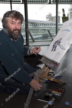 Cartoonist Steve Bell, of the Guardian