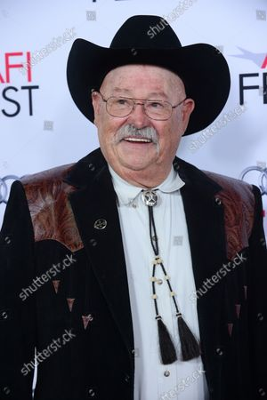 """Cast member Barry Corbin attends the premiere of the motion picture western drama """"The Homesman"""" as part of AFI Fest at the Dolby Theatre in the Hollywood section of Los Angeles on November 11, 2014. Storyline: Three women who have been driven mad by pioneer life are to be transported across the country by covered wagon by the pious, independent-minded Mary Bee Cuddy (Hilary Swank), who in turn employs low-life drifter George Briggs (Tommy Lee Jones) to assist her."""