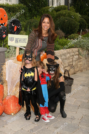 Brooke Burke with her children Heaven Rain Charvet, Shaya Braven Charvet and Sierra Sky Fisher