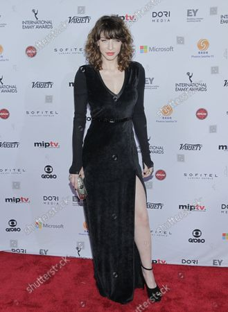 Romina Gaetani arrives on the red carpet at the 2014 International Academy Of Television Arts & Sciences Emmy Awards at New York Hilton in New York City on November 24, 2014.
