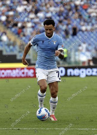 Serie A football, SS Lazio versus AC Spezia : Andreas Pereira of Lazio; Olympic Stadium, Rome, Italy.