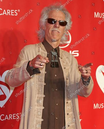 John Densmore attends the MusiCares Person of the Year gala honoring singer and songwriter Bob Dylan at the Los Angeles Convention Center in Los Angeles on February 6, 2015.
