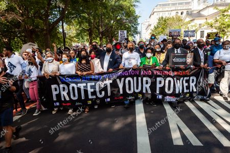 Editorial photo of Nationwide march for voting rights, Lafayette Square / the White House, Washington, USA - 28 Aug 2021