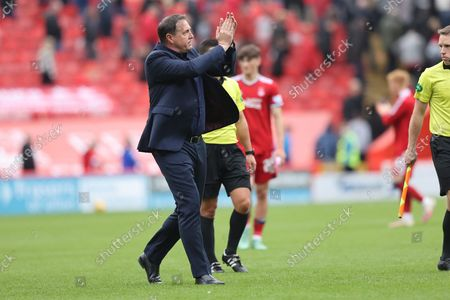 Stock Photo of Ross County's  Manager Malky Mackay during the Cinch Scottish Premiership match between Aberdeen and Ross County at Pittodrie Stadium, Aberdeen