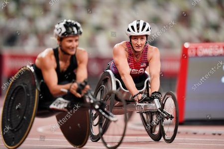 Tatyana Mcfadden (USA) - Athletics :  Women's 800m T54 Final  at the Olympic Stadium  during Tokyo 2020 Paralympic Games in Tokyo, Japan.