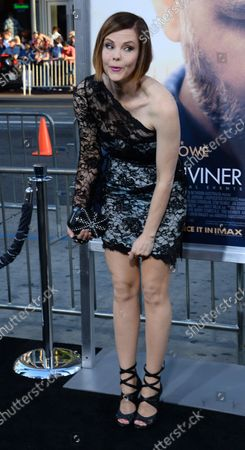 """Actress Kiersten Warren attends the premiere of the motion picture war drama """"The Water Diviner"""" at TCL Chinese Theatre in the Hollywood section of Los Angeles on April 16, 2015. Storyline: After the Battle of Gallipoli, in 1915, an Australian farmer, Connor (Russell Crowe), travels to Turkey to find his 3 missing sons. While staying at a hotel in Istanbul, he meets Ayshe (Olga Kurylenko), the hotel manager, and tries to find a way to Gallipoli."""