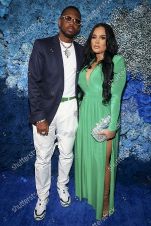 Recording artist Fabolous, left, and stylist Emily Bustamante, right, attend the 40/40 Club's 18th year anniversary celebration, in New York