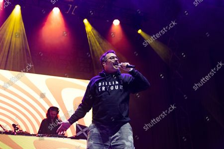 Editorial image of Rap duo Atmosphere in concert at the UC Berkeley Hearst Greek Theatre in Berkeley, California, USA - 19 Aug 2021