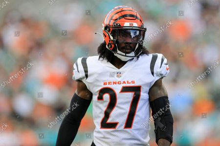 Cincinnati Bengals' defensive back Tony Brown (27) plays the field against the Miami Dolphins during an NFL preseason football game in Cincinnati, . The Dolphins won 29-26