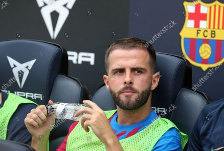Stock Photo of Miralem Pjanic during the match between FC Barcelona and Getafe CF, corresponding to the week 3 of the Liga Santander, played at the Camp Nou Stadium, on 29th August 2021, in Barcelona, Spain.