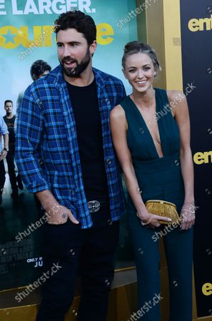 """TV personality and model Brody Jenner and his girlfriend, actress Kaitlynn Carter attend the premiere of the motion picture comedy """"Entourage"""" at the Regency Village Theatre in the Westwood section of Los Angeles on June 1, 2015. Storyline: Movie star Vincent Chase, together with his boys Eric, Turtle, and Johnny, are back - and back in business with super agent-turned-studio head Ari Gold on a risky project that will serve as Vince's directorial debut."""