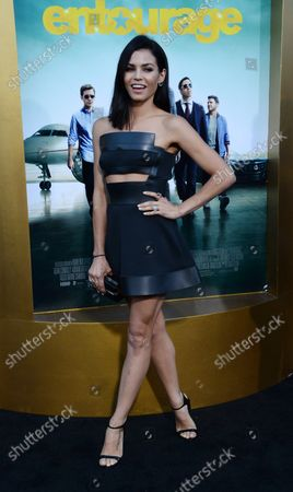 """Actress Jenna Dewan-Tatum attends the premiere of the motion picture comedy """"Entourage"""" at the Regency Village Theatre in the Westwood section of Los Angeles on June 1, 2015. Storyline: Movie star Vincent Chase, together with his boys Eric, Turtle, and Johnny, are back - and back in business with super agent-turned-studio head Ari Gold on a risky project that will serve as Vince's directorial debut."""