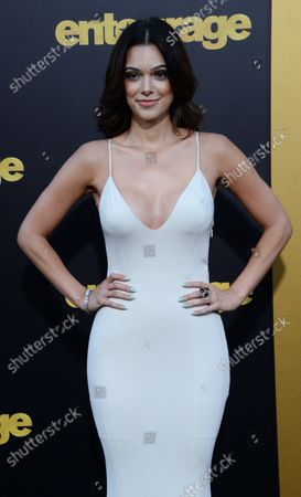 """Actress Anabelle Acosta attends the premiere of the motion picture comedy """"Entourage"""" at the Regency Village Theatre in the Westwood section of Los Angeles on June 1, 2015. Storyline: Movie star Vincent Chase, together with his boys Eric, Turtle, and Johnny, are back - and back in business with super agent-turned-studio head Ari Gold on a risky project that will serve as Vince's directorial debut."""