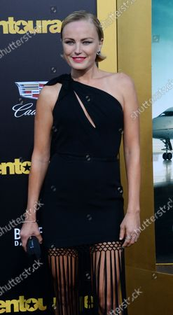 """Actress Malin Akerman attends the premiere of the motion picture comedy """"Entourage"""" at the Regency Village Theatre in the Westwood section of Los Angeles on June 1, 2015. Storyline: Movie star Vincent Chase, together with his boys Eric, Turtle, and Johnny, are back - and back in business with super agent-turned-studio head Ari Gold on a risky project that will serve as Vince's directorial debut."""