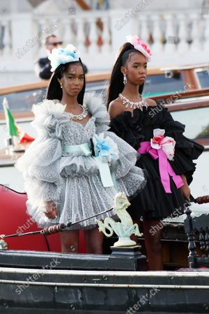 Editorial photo of Celebrity Boat Arrivals during Dolce & Gabbana Alta Moda, Venice, Italy - 29 Aug 2021