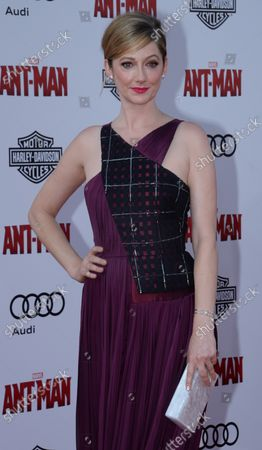 """Cast member Judy Greer attends the premiere of the sci-fi motion picture """"Ant-Man"""" at the Dolby Theatre in the Hollywood section of Los Angeles on June 29, 2015. Storyline: Armed with a super-suit with the astonishing ability to shrink in scale but increase in strength, con-man Scott Lang (Paul Rudd) must embrace his inner hero and help his mentor, Dr. Hank Pym (Michael Douglas), plan and pull off a heist that will save the world."""