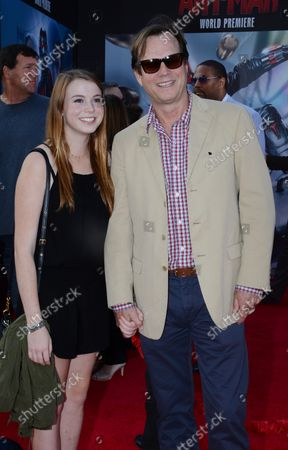 """Actor Bill Paxton and his daughter Lydia Paxton attend the premiere of the sci-fi motion picture """"Ant-Man"""" at the Dolby Theatre in the Hollywood section of Los Angeles on June 29, 2015. Storyline: Armed with a super-suit with the astonishing ability to shrink in scale but increase in strength, con-man Scott Lang (Paul Rudd) must embrace his inner hero and help his mentor, Dr. Hank Pym (Michael Douglas), plan and pull off a heist that will save the world."""