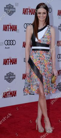 """Actress Lydia Hearst attend sthe premiere of the sci-fi motion picture """"Ant-Man"""" at the Dolby Theatre in the Hollywood section of Los Angeles on June 29, 2015. Storyline: Armed with a super-suit with the astonishing ability to shrink in scale but increase in strength, con-man Scott Lang (Rudd) must embrace his inner hero and help his mentor, Dr. Hank Pym (Michael Douglas), plan and pull off a heist that will save the world."""
