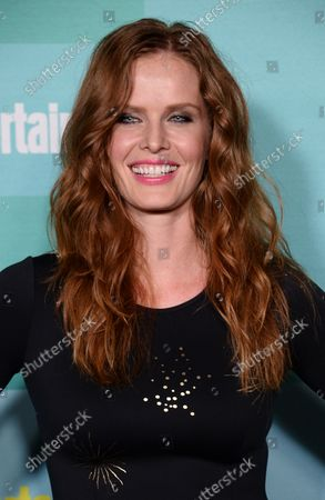Actress Rebecca Mader attends Entertainment Weekly's Comic-Con closing night celebration party at FLOAT at the Hard Rock Hotel in San Diego, California on July 11, 2015.