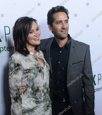 """Director Jay Karas and his wife Monica attend the premiere of the motion picture sports comedy """"Break Point"""" at the Chinese 6 Theatres in the Hollywood section of Los Angeles on August 6, 2015. Storyline: Two estranged brothers reunite to make an improbable run at a grand slam tennis tournament."""
