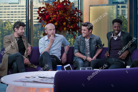 Andy Serkis, Simon Pegg, Joe McElderry and John Adeleye.
