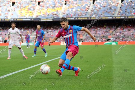 Jordi Alba during the match between FC Barcelona and Getafe CF, corresponding to the week 3 of the Liga Santander, played at the Camp Nou Stadium, on 29th August 2021, in Barcelona, Spain. Photo: Joan Valls/Urbanandsport/NurPhoto --