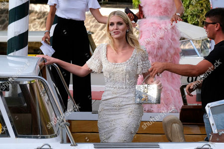 Lady Kitty Spencer in Venice, Italy to attend to a D&G Event