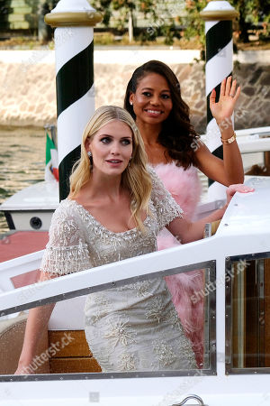 Lady Kitty Spencer and Emma Weymouth in Venice, Italy to attend to a D&G Event
