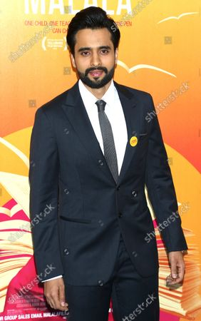 """Jackky Bhagnani arrives on the red carpet at the New York premiere of """"He Named Me Malala"""" at the Ziegfeld Theater in New York City on September 24, 2015."""