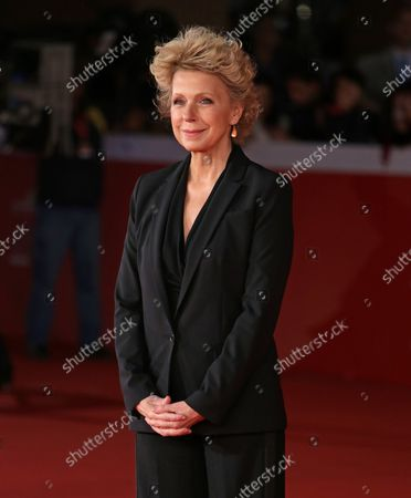 """Stock Image of Mary Mapes arrives on the red carpet before the screening of the film """"Truth"""" at the 10th annual Rome International Film Festival in Rome on October 16, 2015."""