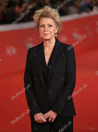 """Mary Mapes arrives on the red carpet before the screening of the film """"Truth"""" at the 10th annual Rome International Film Festival in Rome on October 16, 2015."""