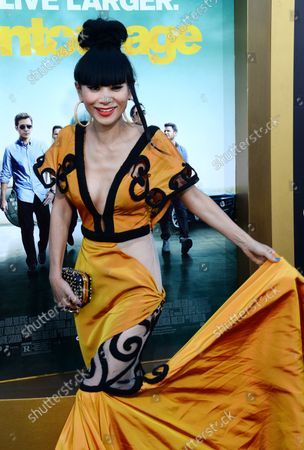 """Actress Bai Ling attends the premiere of the motion picture comedy """"Entourage"""" at the Regency Village Theatre in the Westwood section of Los Angeles on June 1, 2015. Storyline: Movie star Vincent Chase, together with his boys Eric, Turtle, and Johnny, are back - and back in business with super agent-turned-studio head Ari Gold on a risky project that will serve as Vince's directorial debut."""