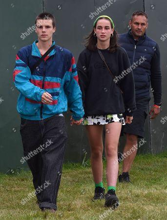 Cruz Beckham and new girlfriend Bliss Chapman seen enjoying live music at Reading Music Festival