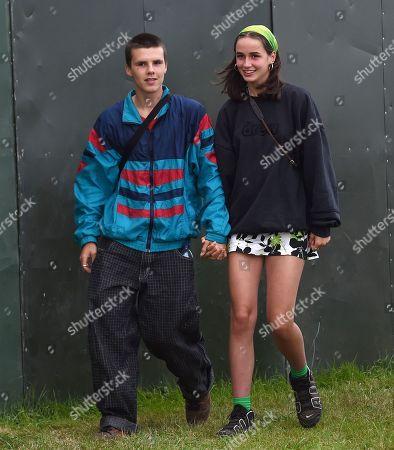 Stock Photo of Cruz Beckham and new girlfriend Bliss Chapman seen enjoying live music at Reading Music Festival