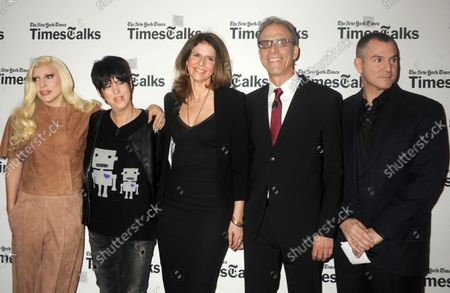 Lady Gaga, Diane Warren, Amy Ziering. Kirby Dick and Frank Bruni arrive on the red carpet at TimesTalks Presents' 'Hunting Ground' With Lady Gaga, Diane Warren, Kirby Dick and Amy Ziering at Times Center in New York City on December 10, 2015.