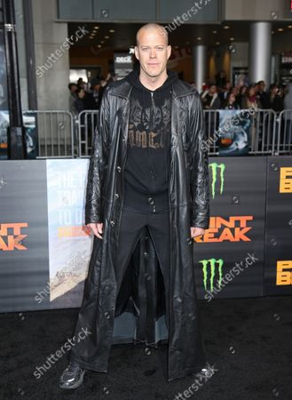 """Jeb Corliss attends the premiere of the film """"Point Break"""" at the TCL Chinese Theatre in the Hollywood section of Los Angeles on December 15, 2015."""