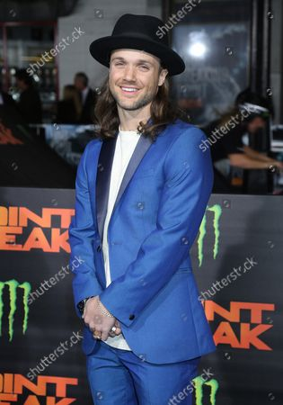 """Louie Vito attends the premiere of the film """"Point Break"""" at the TCL Chinese Theatre in the Hollywood section of Los Angeles on December 15, 2015."""