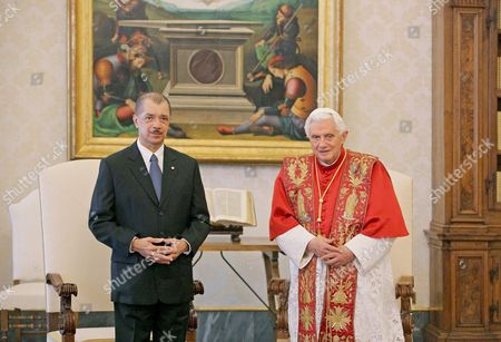 President James Michel, President of the Republic of the Seychelles and Pope Benedict XVI