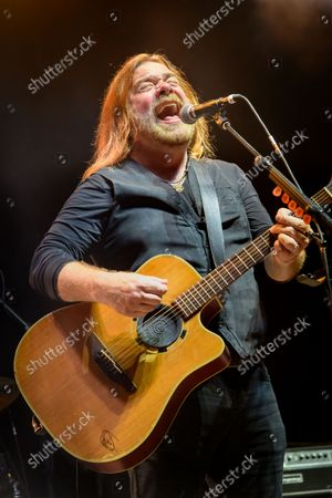 Stock Image of Canadian musician and actor Alan Doyle performed a sold out show at the BudWeiser Stage in Toronto, Canada. In picture: Alan Doyle