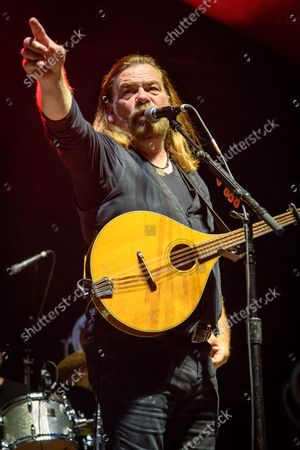 Stock Photo of Canadian musician and actor Alan Doyle performed a sold out show at the BudWeiser Stage in Toronto, Canada. In picture: Alan Doyle