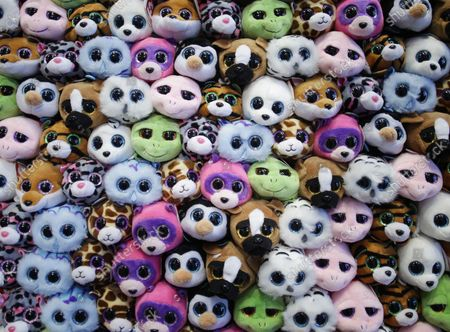 Stock Picture of A group of Teeny Tys are on display at the 113th North American International Toy Fair at the Jacob K. Javits Convention Center in New York City on February 13, 2016. The Fair runs from February 13 thru the 16th.