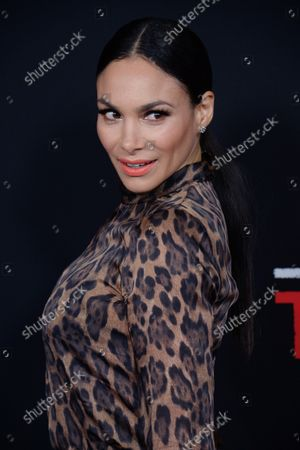 """Stock Image of Actress Patricia De Leon attends the premiere of the motion picture crime thriller """"Triple 9"""" at Regal L.A. Live in Los Angeles on February 16, 2016. Storyline: A  crew of dirty cops is blackmailed by the Russian mob to execute a virtually impossible heist."""