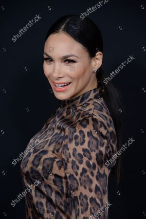 """Actress Patricia De Leon attends the premiere of the motion picture crime thriller """"Triple 9"""" at Regal L.A. Live in Los Angeles on February 16, 2016. Storyline: A  crew of dirty cops is blackmailed by the Russian mob to execute a virtually impossible heist."""