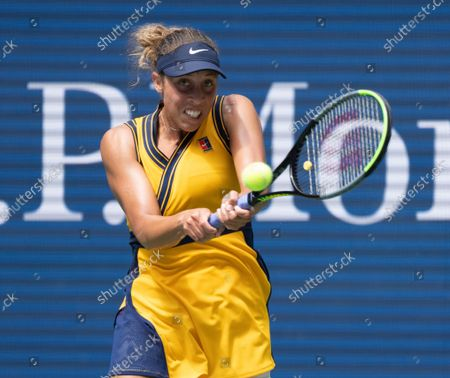 Madison Keys (USA) loses to Sloane Stephens (USA) 6-3, 1-6, 7-6, at the US Open being played at Billy Jean King Ntional Tennis Center in Flushing, Queens, New York. ©Leslie Billman